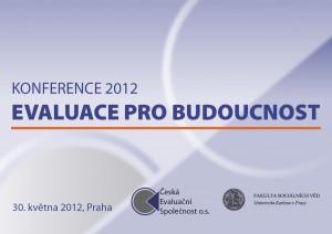 Logo konferencie Českej evaluačnej spoločnosti Evaluace pro budoucnost
